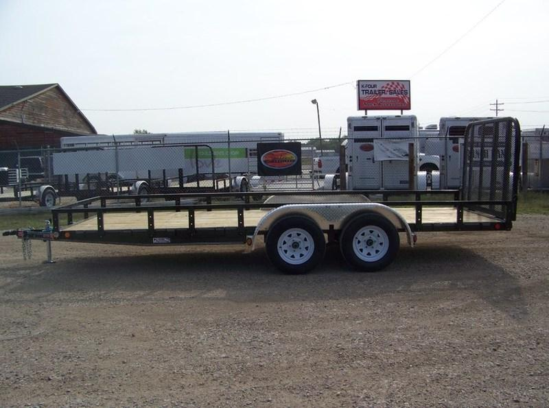 "2018 PJ Trailers 77"" Channel Utility (U7) Double Axle 16'"