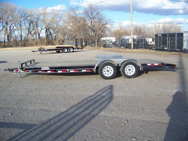 "2018 PJ Trailers 20' x 5"" Channel Open Carhauler Trailer"