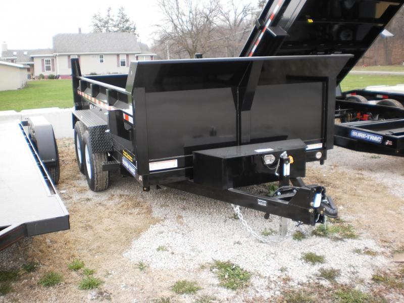 2018 Sure-Trac 82x12 Dual Ram Dump Trailer 12k