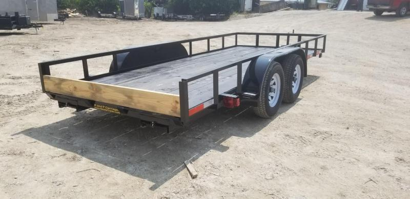 2019 M.E.B 6.4x16 Utility Trailer w/Slide Out Ramps 7k
