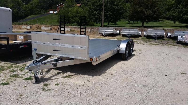 2018 R&R 7x18 Aluminum Car Hauler 7k