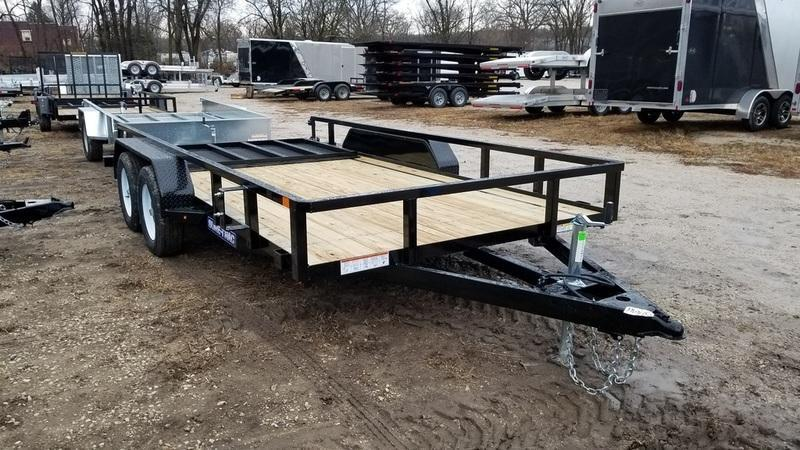 2019 Sure-Trac 7x16 Tube Top Utility Trailer w/Spring Asst Gate 7k