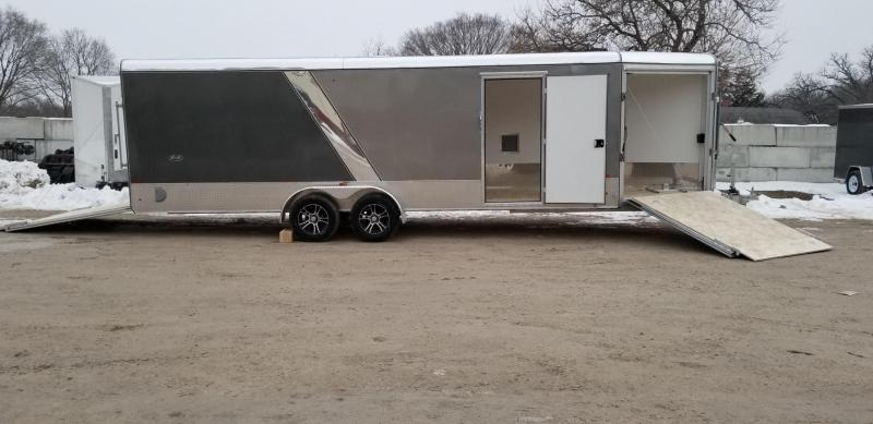 2019 R&R 7x22 PSD All Aluminum Drive Thru 4 Place Snowmobile Trailer 7k