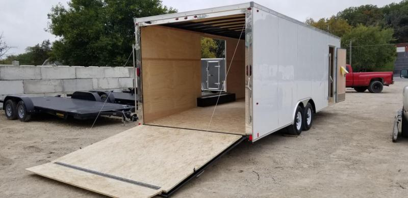 2019 Interstate 8x24 IFC Steel Enclosed Car Hauler w/Escape Door 10k