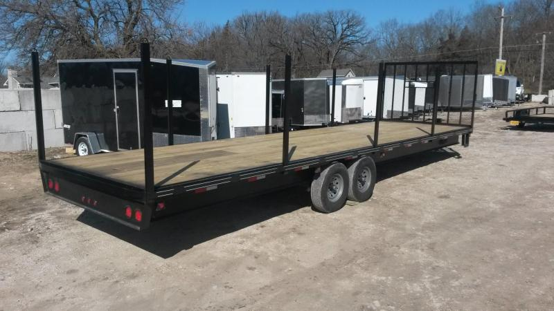 2018 M.E.B 8.5x30 Deckover Equipment Trailer w/Uprights 14k