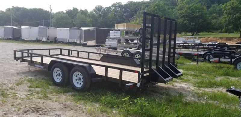 2018 Sure-Trac 7x18 Tube Top Utility Trailer w/Spring Assisted Gate 7k
