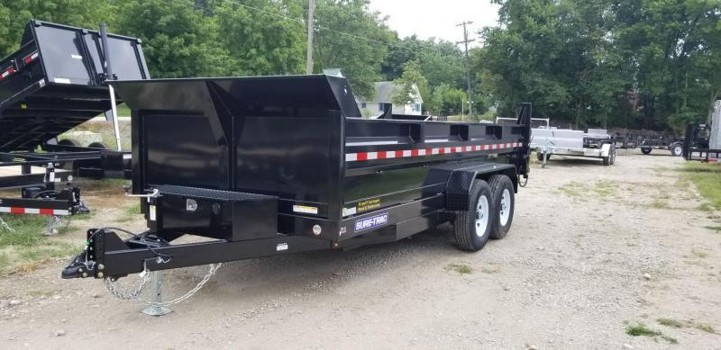 2019 Sure-Trac 82x16 Powder Coated Dual Ram Dump Trailer 14k