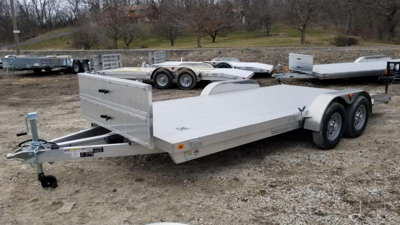 2019 R&R 7x18 All Aluminum Open Car Hauler 7k