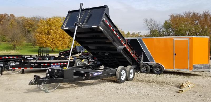 2019 Sure-Trac 82x14 Telescopic Dump Trailer 14k