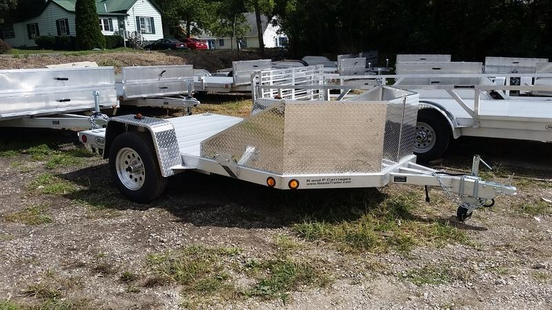 2019 R&R OMC3 All Aluminum Motorcycle Trailer w/Slide Out Ramps 3k
