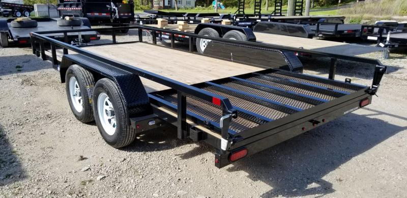 2020 Sure-Trac 7x16 Tube Top Utility Trailer w/Spring Assisted Gate 7k