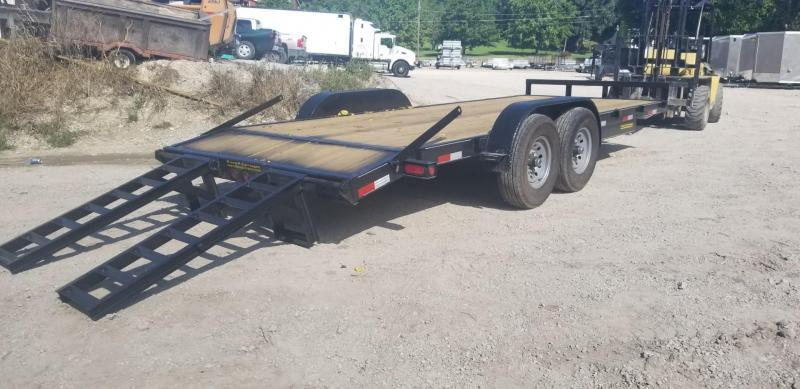 2018 7x20 M.E.B Equipment Trailer w/Stand Up Ramps 12k