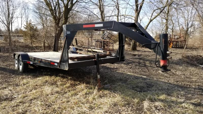 2016 Homemade 7x18 Gooseneck Flatbed Trailer 7k