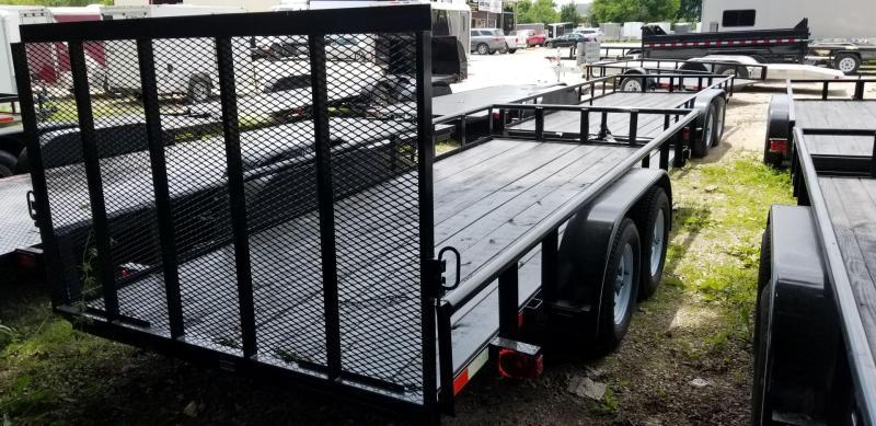 2018 M.E.B 6.4x16 Piperail Utility Trailer w/Gate & Brake 7k
