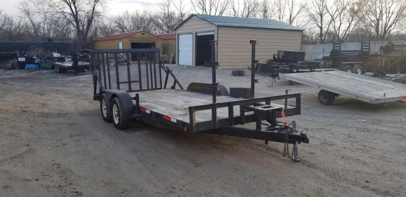2004 M.E.B. 7x18 Car Hauler/Utility with Ramp Gate 7k