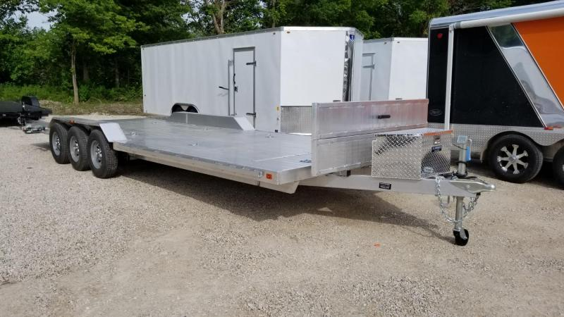 2020 R and R 7x26 All Aluminum Triple Axle Open Auto Hauler 10k