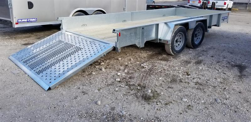 2019 Sure-Trac 7x16 Galvanized High Side Utility w/Fold Flat Gate 7k