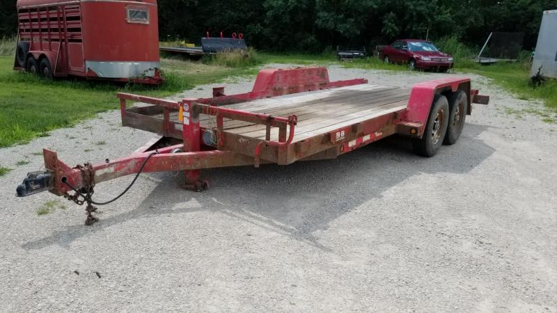 2007 B-B 7x18 Wood Deck Equipment Trailer 14k