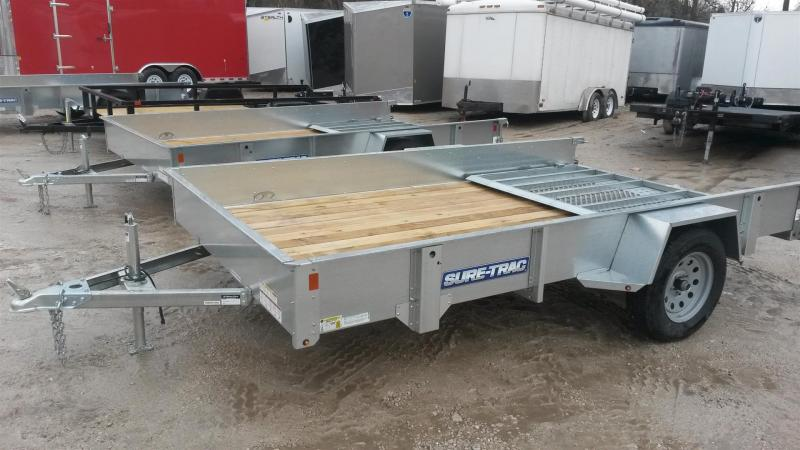 2019 Sure-Trac 5x10 Galvanized High Side Utility Trailer w/Fold Flat Gate 3k