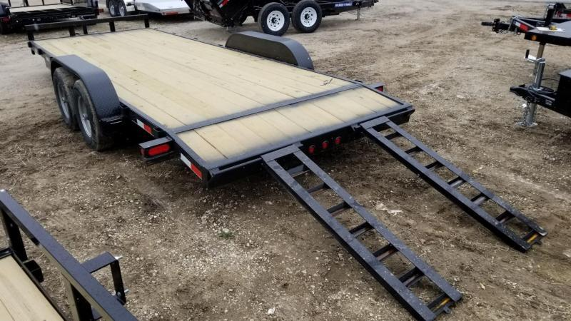 2018 M.E.B 7x20 Treated Wood Deck Auto Hauler 10k