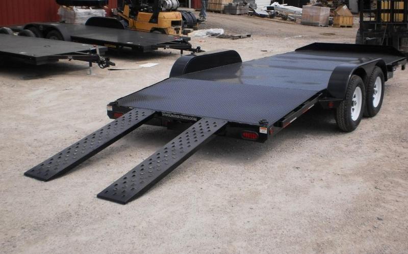 2018 Sure-Trac 7x18 Steel Deck Car Trailer 10k