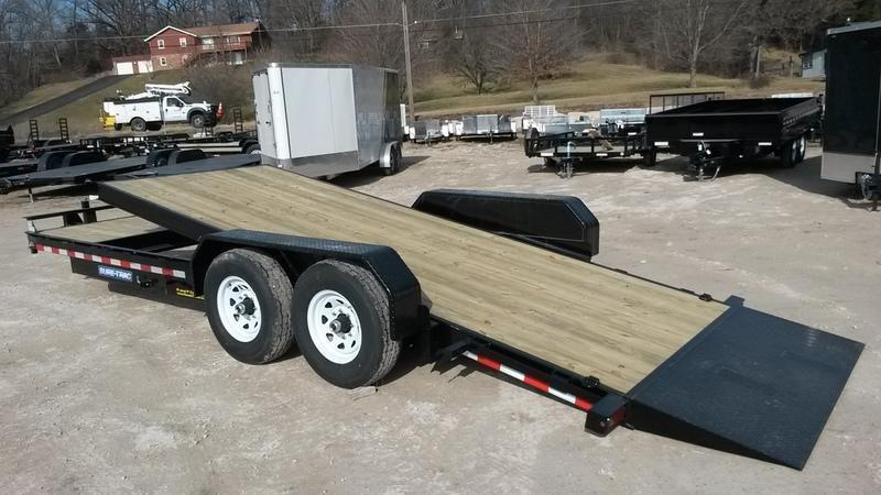 2019 Sure-Trac 7x18+4 Tilt Deck Equipment Trailer 14k