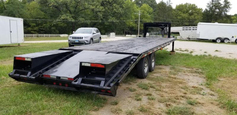 2008 Progressive 8.5x25+5 Gooseneck Equipment Trailer w/Ramps 14k