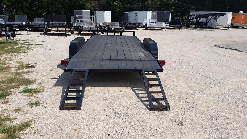 2018 M.E.B 7x18 Wood Deck Open Car Hauler 7K