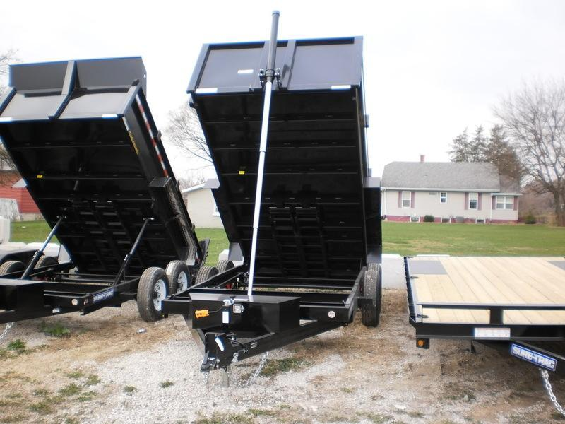 2019 Sure-Trac 82x12 Telescopic Dump Trailer 12k