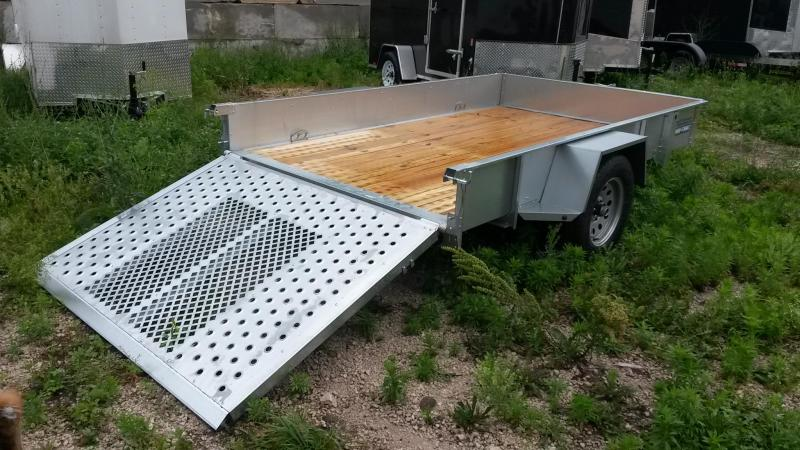 2019 Sure-Trac 6x10 Galvanized High Side Utility Trailer w/Fold Flat Gate 3k