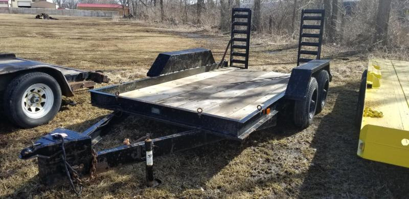 1981 Double B 6x12 Wood Deck Utility Trailer w/Stand Up Ramps 7k