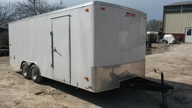 2016 Look RENTAL #9 8.5x20 Enclosed Car Hauler 7k
