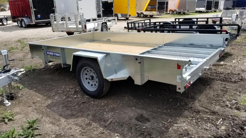2019 Sure-Trac 7x12 Galvanized High Side Utility w/Gate 3k