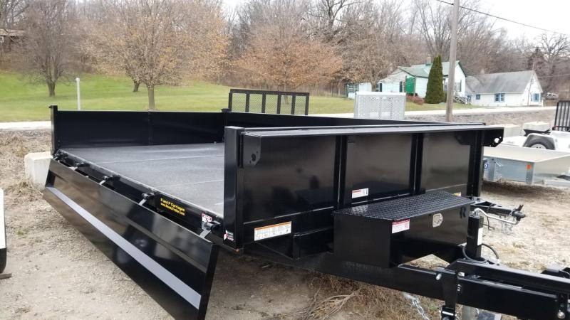 2019 Sure-Trac 96x14 Scissor Deckover Dump w/Fold Down Sides 14k