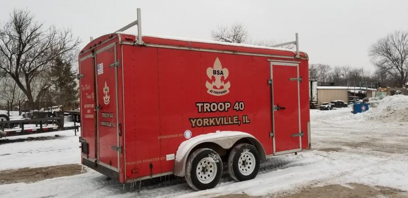 2000 Nations Trailers 7x14 Enclosed Cargo Trailer 7k