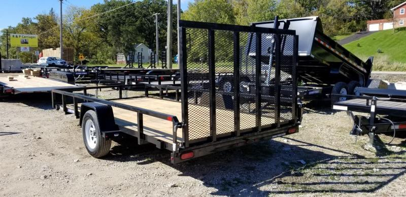 2020 Sure-Trac 7x14 Tube Top Utility Trailer w/Spring Asst Gate 3k