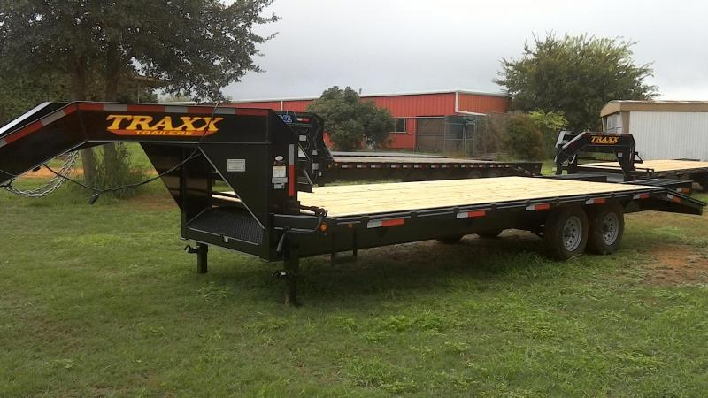 2018 Traxx 102X25 Tandem Deck Over Gooseneck Flatbed Trailer