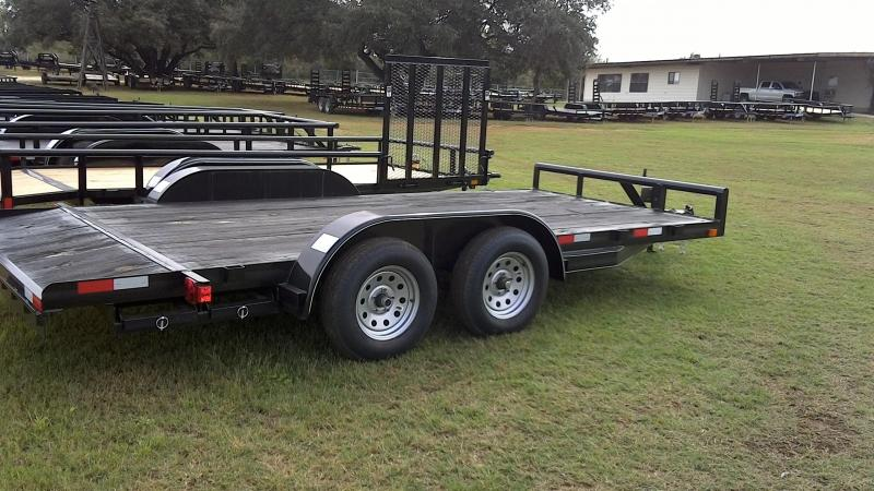 2018 CenTex 82X16 Tandem Car / Racing Trailer