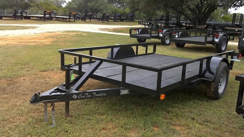 2019 Centex Trailers 76X10 Single Axle Utility Trailer