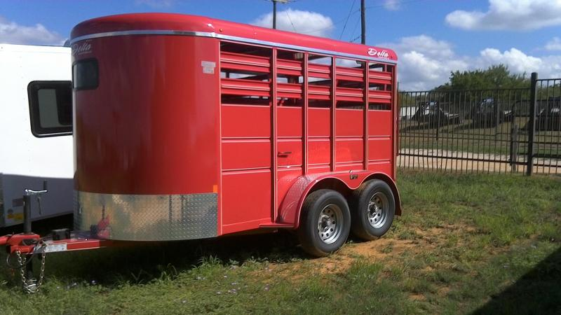 2018 Delta Manufacturing 6X12 Bumper Pull Livestock Trailer