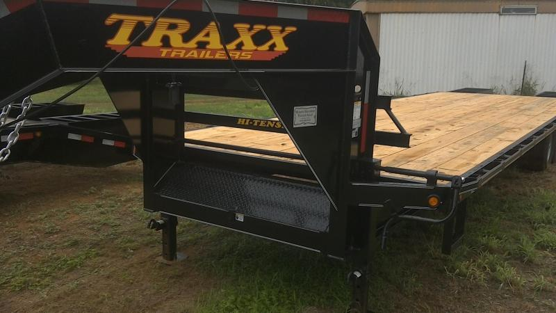 2018 Traxx 102X30 Tandem Deck Over Gooseneck Flatbed Trailer