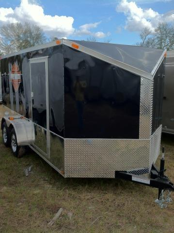 AVAILABLE 02/29/16 RESERVE NOW!!!______________________   Diamond Cargo 7X14 TVRH Harley Trailer Black/Slant V/Motorcycle