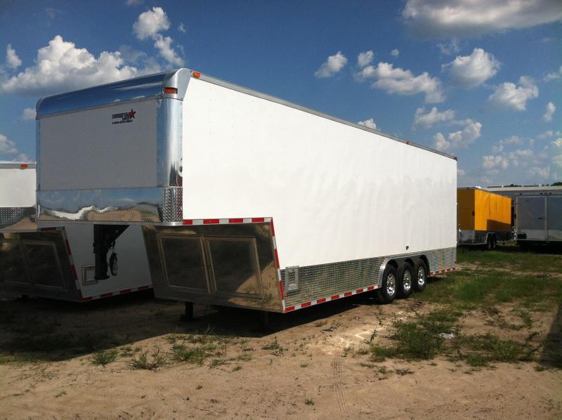 Diamond Cargo 8.5x34 GNTT Enclosed Gooseneck Trailer .040 White/9' Int Height/Triple 7000 lb. Torsions