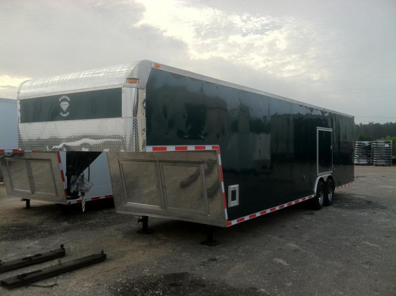 8.5x36 GNT Enclosed Gooseneck Trailer .030 Cargo Green/Escape Door/E-Track