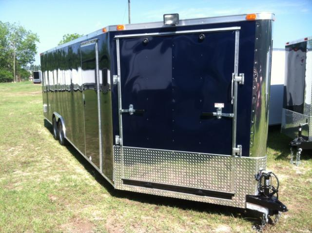 2015 Diamond Cargo 8.5x24 Enclosed Snowmobile Trailer with 5' Ramp
