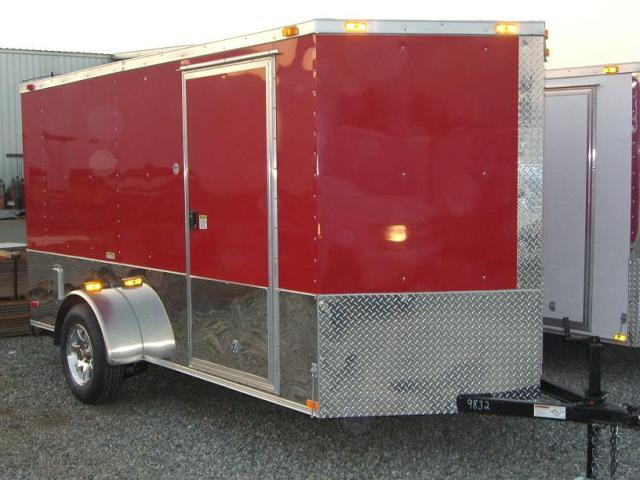 2016 Diamond Cargo 6X12 SVRM Enclosed Motorcycle Trailer With .030 COLOR