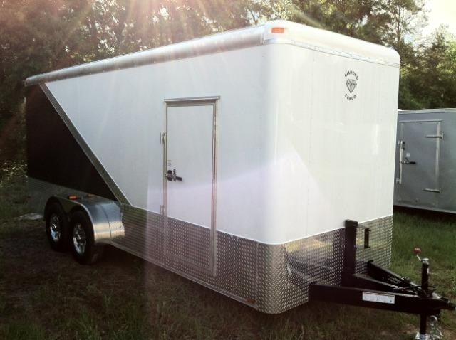 Diamond Cargo Enclosed Trailer 7x16 TA 6'8 Interior