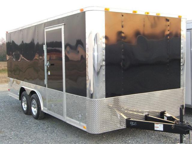 Diamond Cargo 8.5X16 TR Enclosed Multi-Bike Trailer