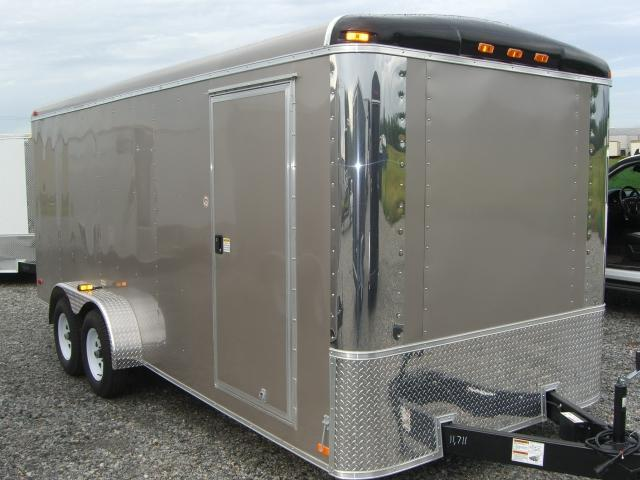 Diamond Cargo 7X16 TR Enclosed Trailer 6'8 Int. Round Top