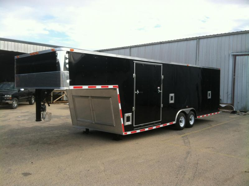 8.5x30 GNT Enclosed Gooseneck Trailer ATV/Side Ramp/Fuel Doors